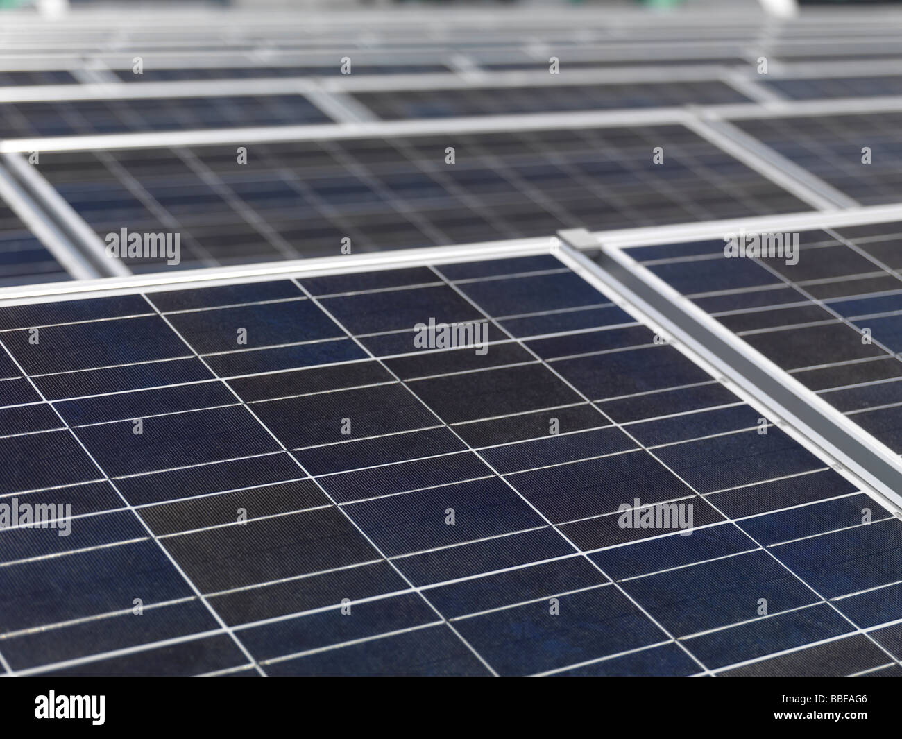 Polycrystalline solar panels close up - Stock Image