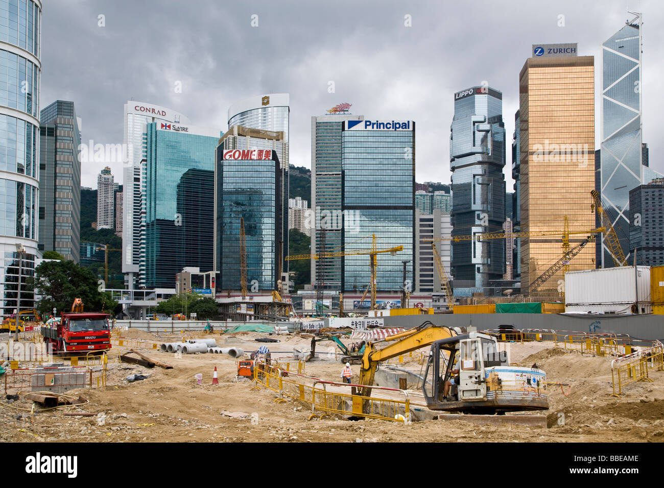 Hong Kong Central Reclamation - Stock Image