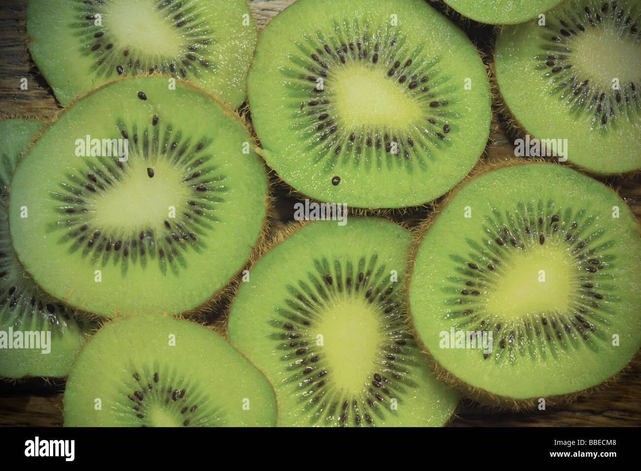 Close-up of Kiwi Slices Stock Photo
