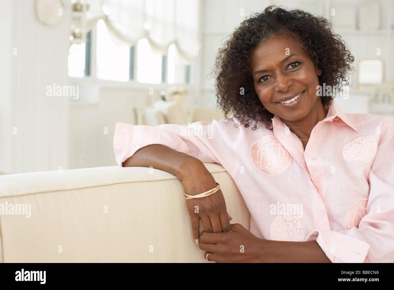 Portrait of Woman Stock Photo