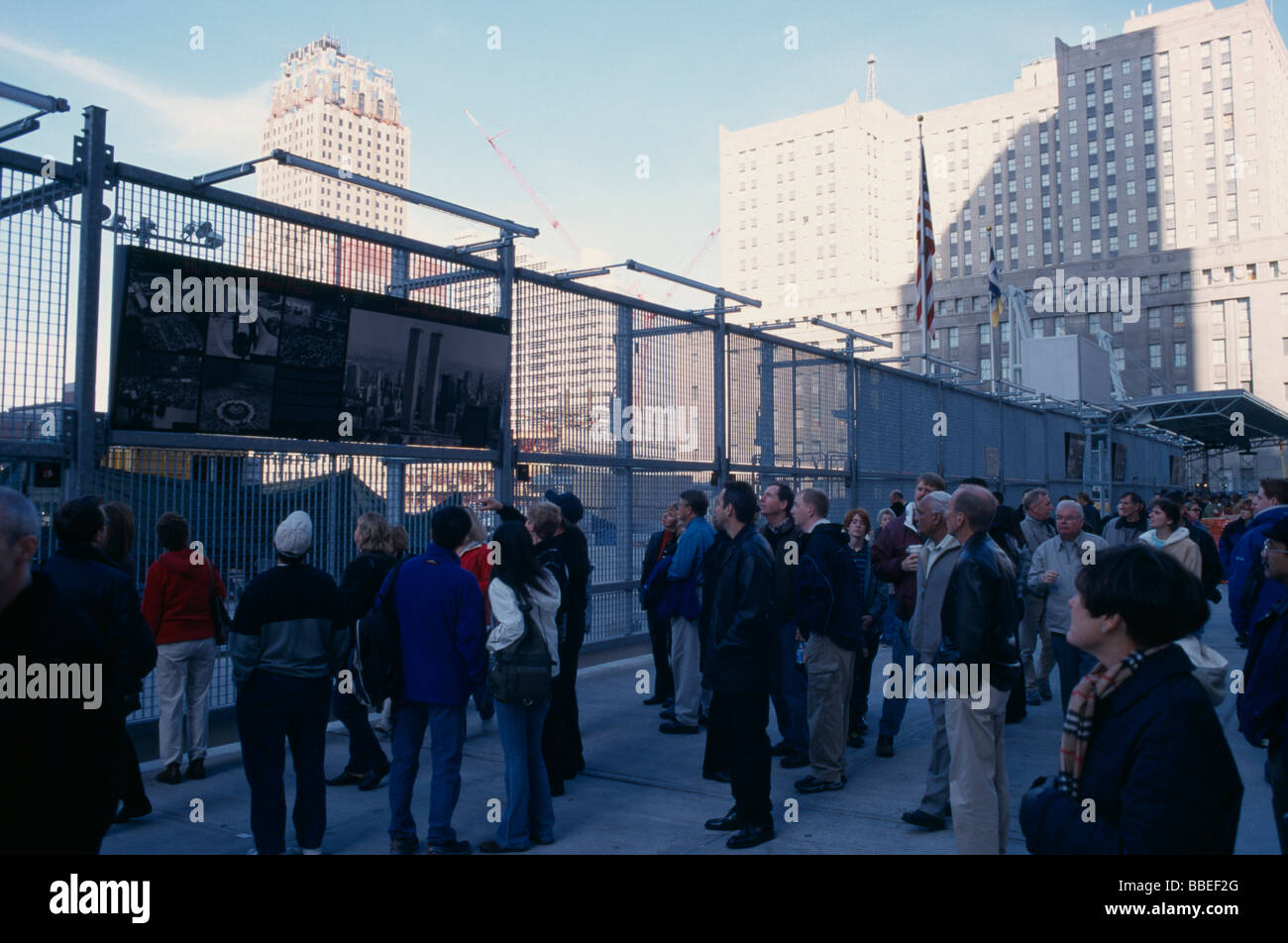 USA New York Manhattan Financial District World Trade Center Ground Zero - Stock Image