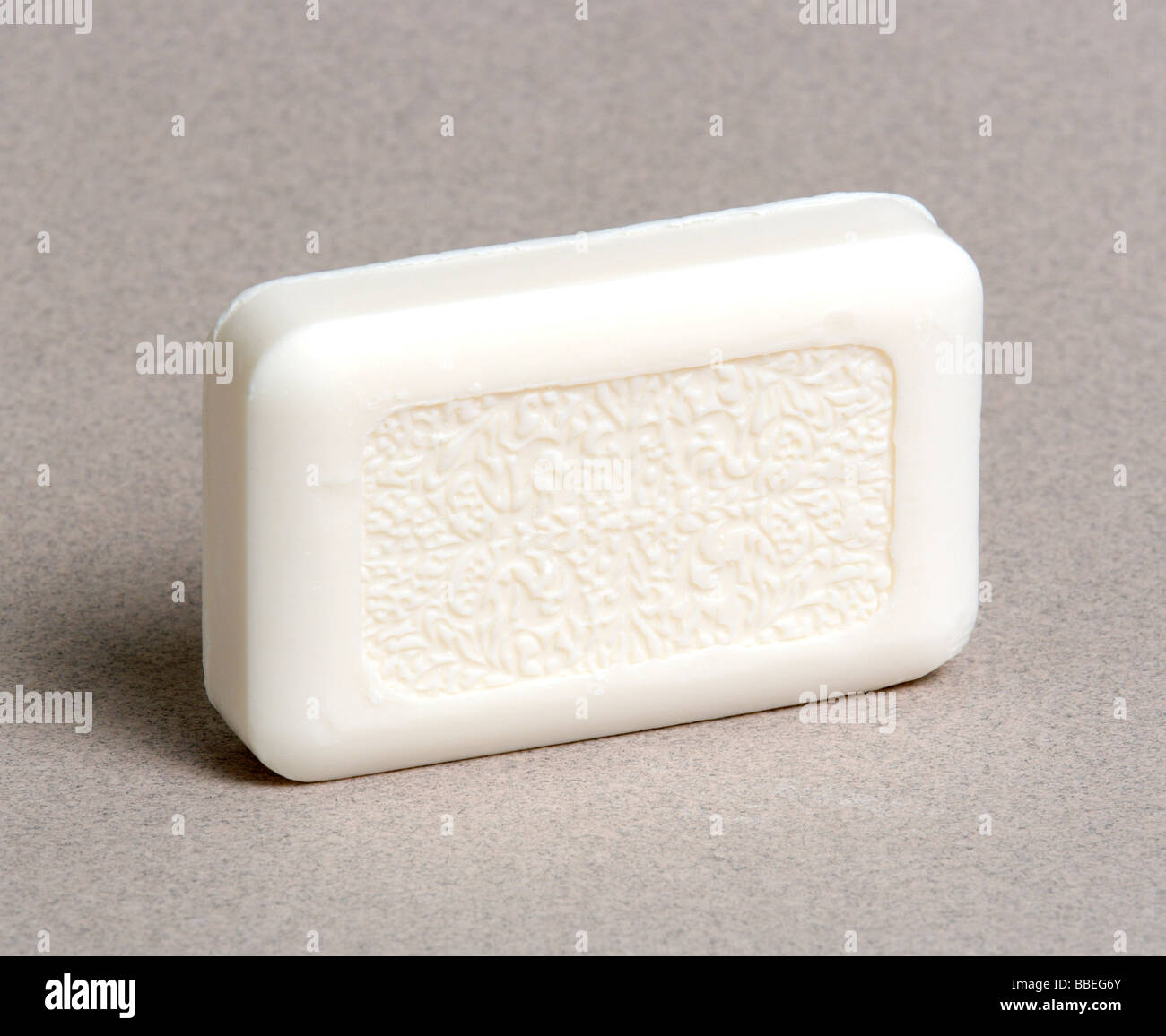 HEALTH Hygiene Cleanliness A traditional bar of white soap. - Stock Image