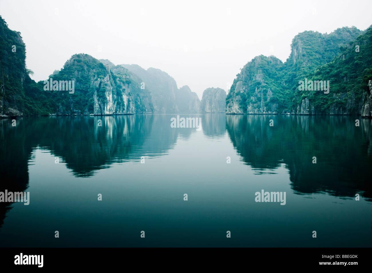Gulf of Tonkin, Halong Bay, Quang Ninh Province, Vietnam Stock Photo