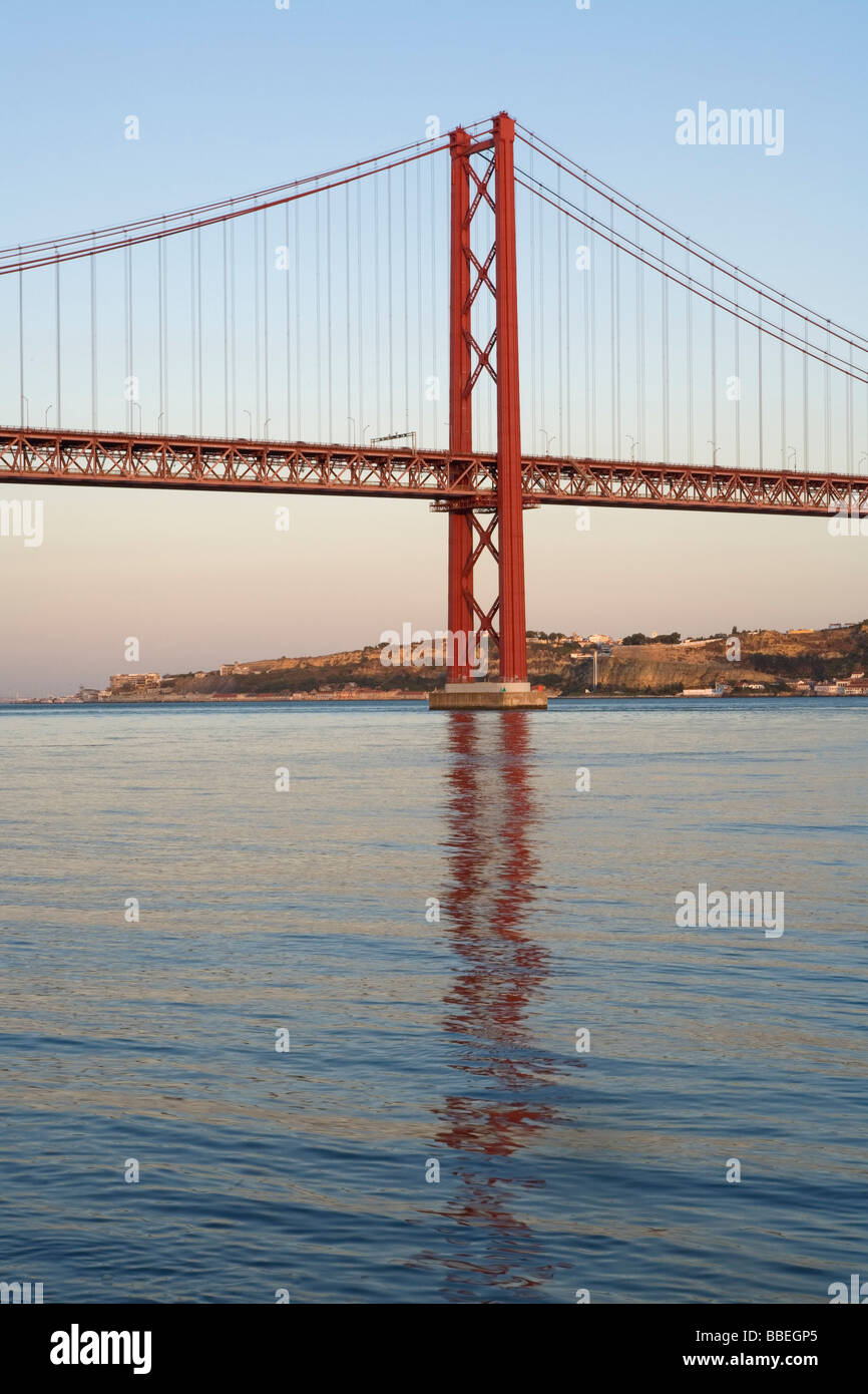 25th of April Bridge, Lisbon, Portugal Stock Photo