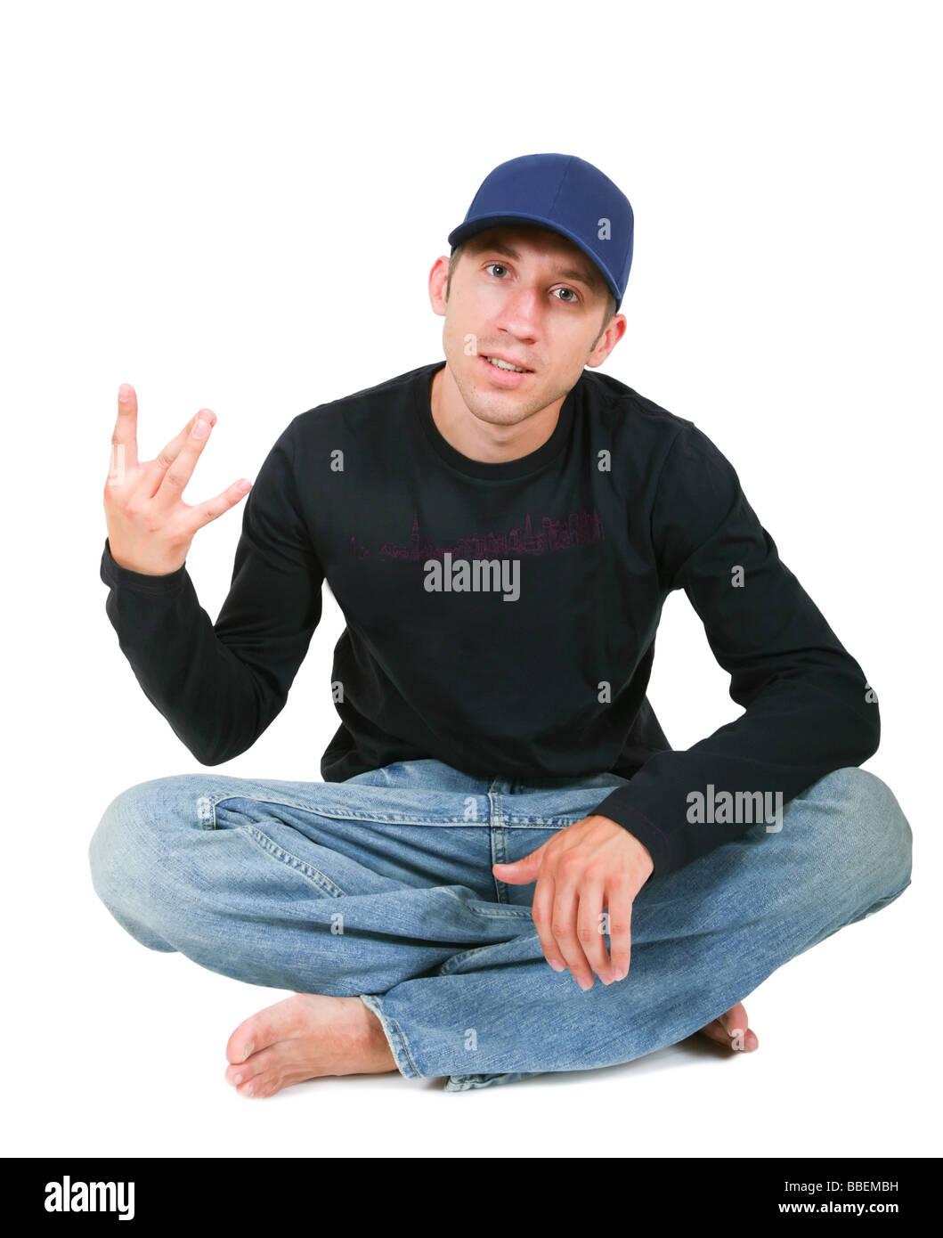 young man, hip-hop Stock Photo