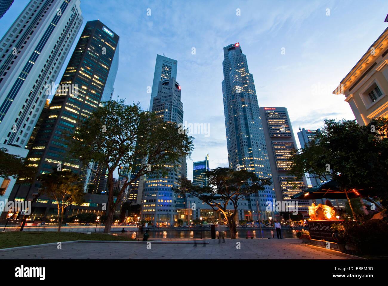 Asia Singapore singapur skyline panorama Stock Photo