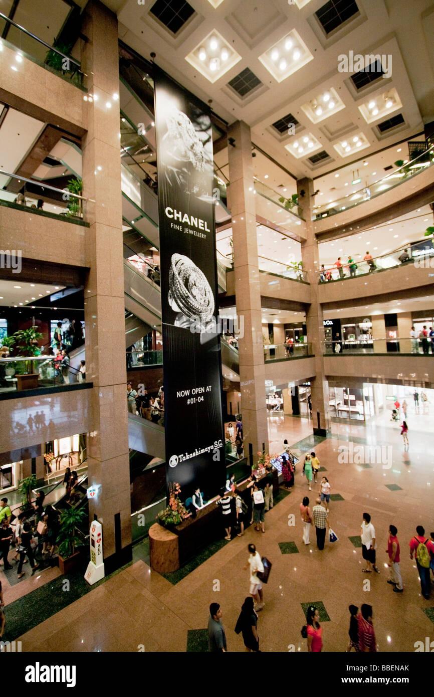Ngee Ann City Takashimaya shopping center Orchard road shopping zone Singapore Singapur Asia - Stock Image