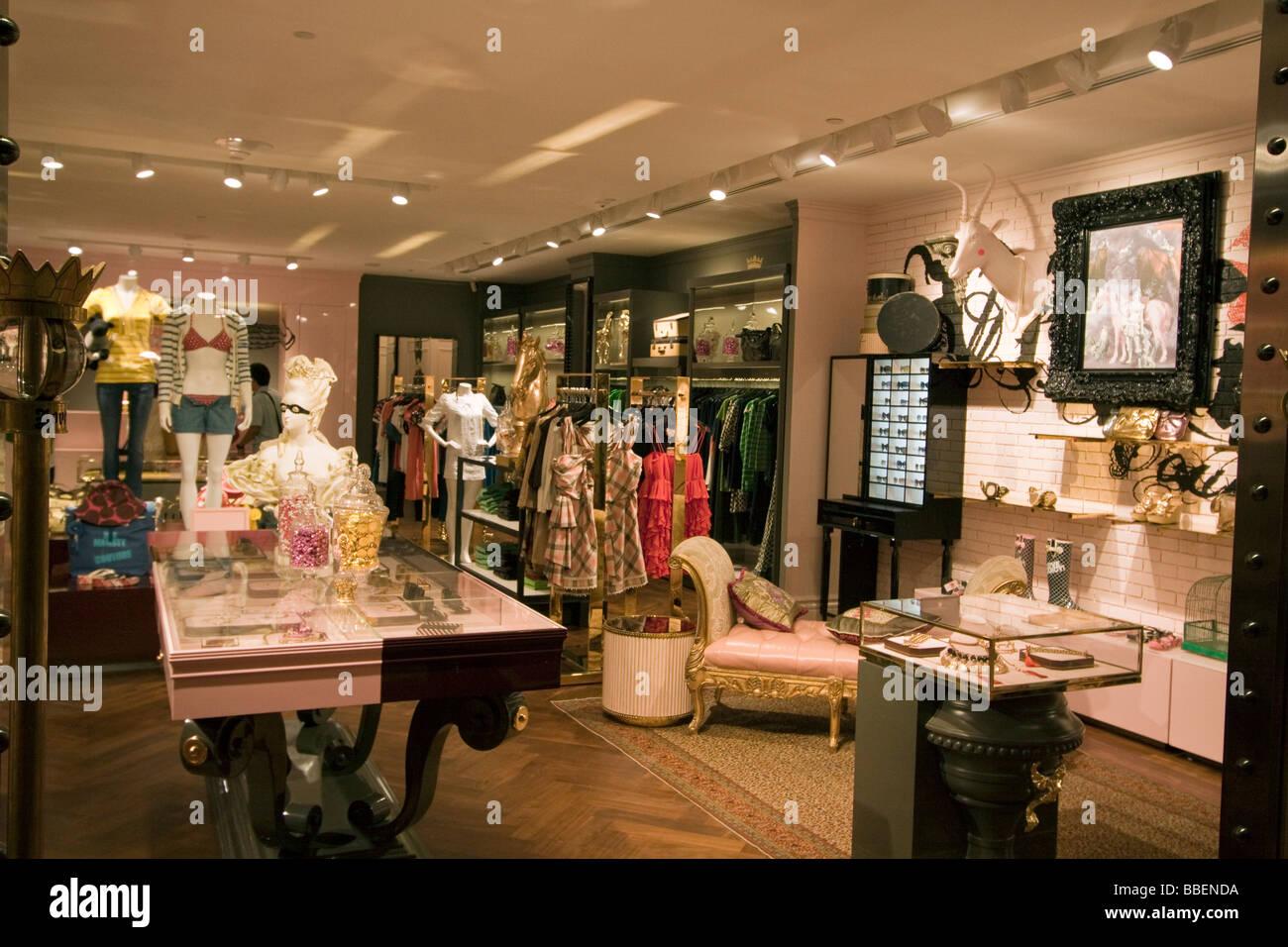 Fashion shop Ngee Ann City Takashimaya shopping center Orchard road shopping zone Singapore Singapur Asia - Stock Image