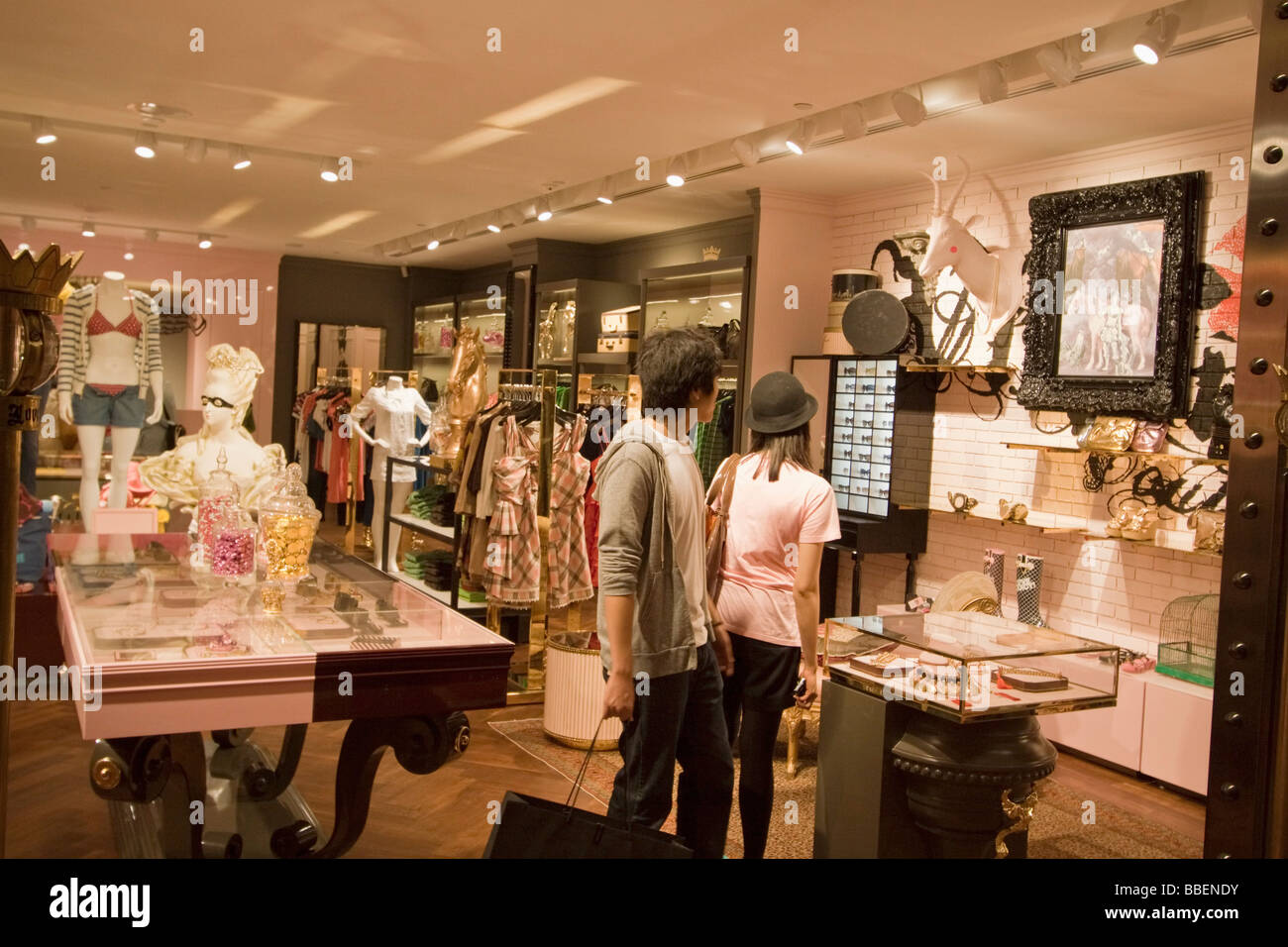 Fashion shop Ngee Ann City Takashimaya shopping center Orchard road shopping zone Singapore , Singapur Asia - Stock Image