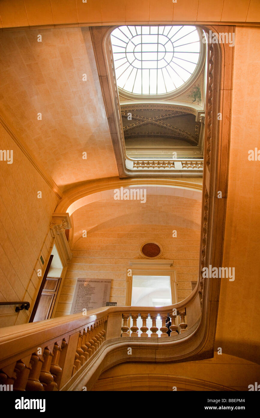 Musee de Beaux Arts stairways Lyon Rhone Alps France - Stock Image