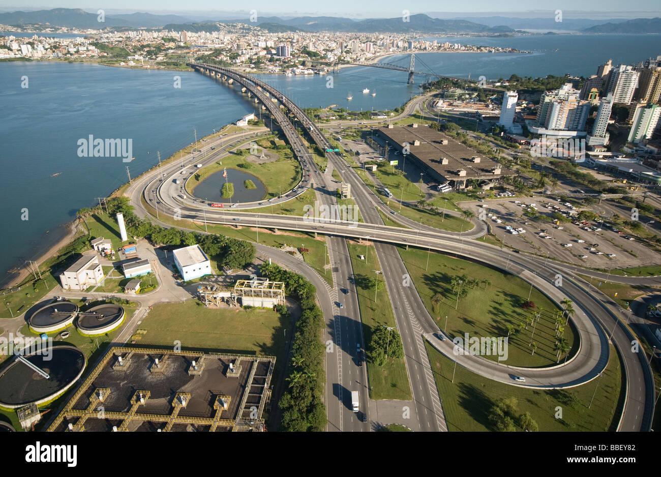 Florianopolis aerial view - Stock Image