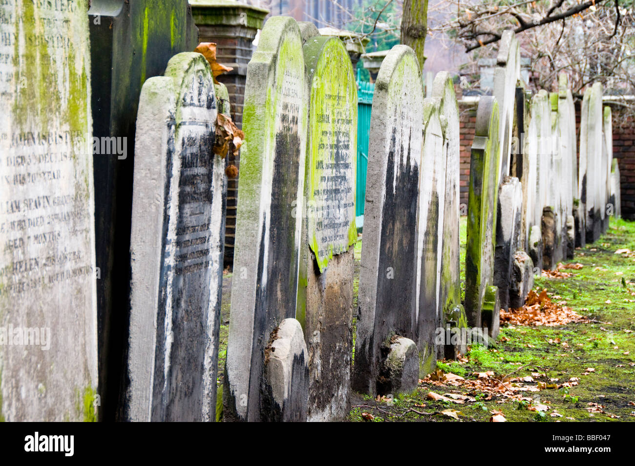 Bunhill Fields Cemetery, London, UK - Stock Image