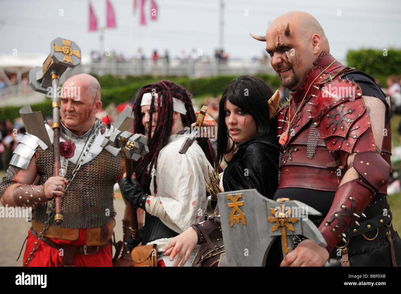 Cosplay fans 21 at Anime Expo, Excel Centre London 2009 - Stock Image