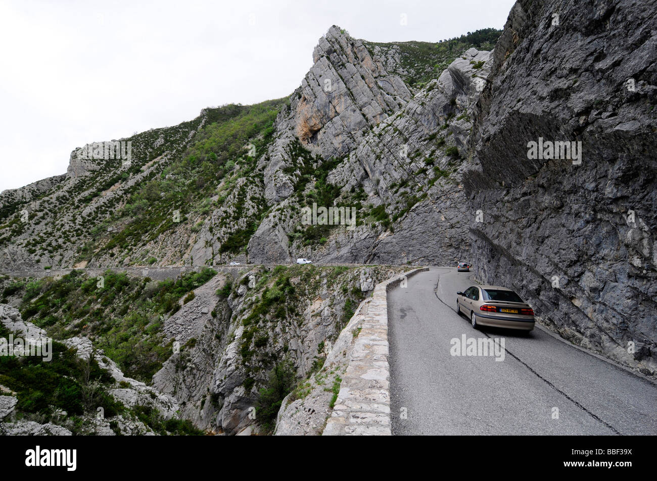 driving a car on the famous route napoleon a winding scenic road stock photo 24303494 alamy. Black Bedroom Furniture Sets. Home Design Ideas