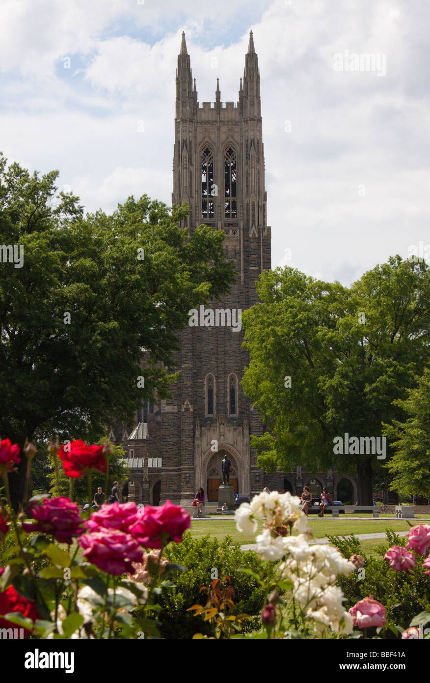 Duke University Chapel, Durham NC USA - Stock Image