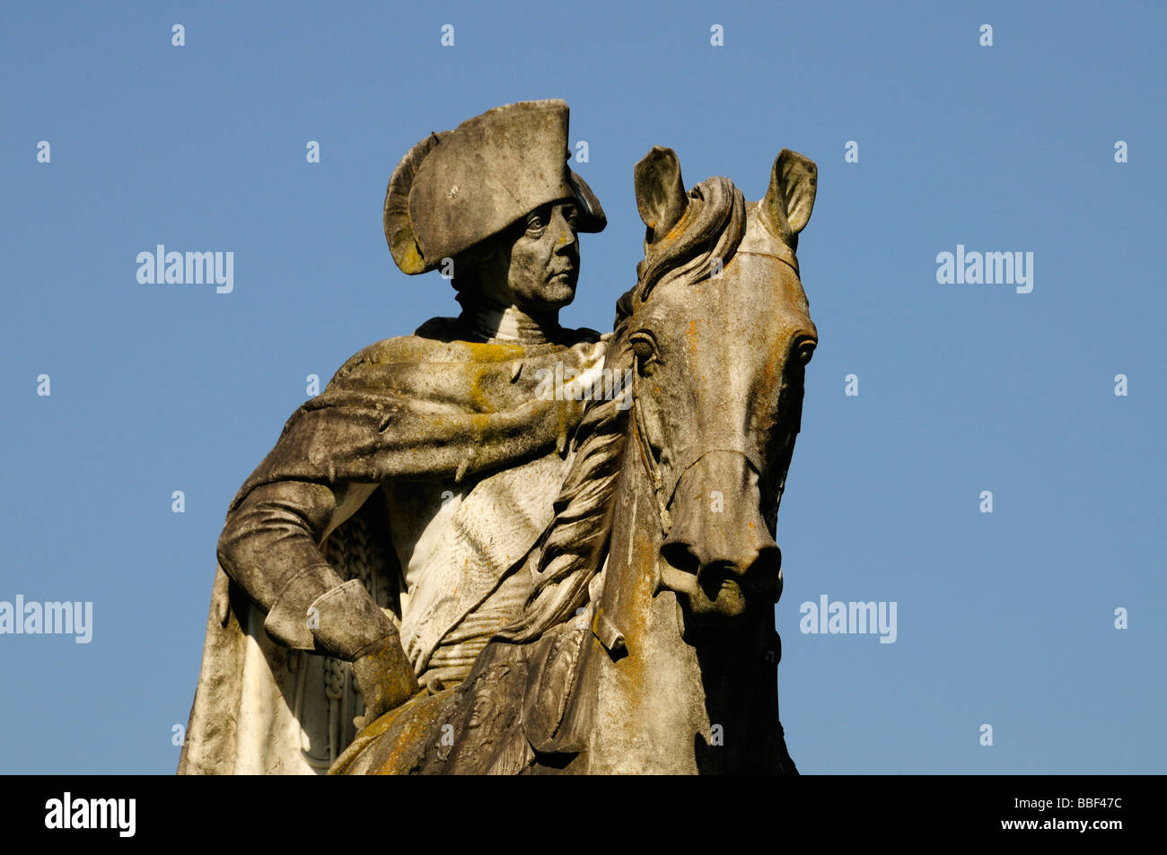 Statue of Frederick the Great, Sanssouci Park, Potsdam, Germany - Stock Image