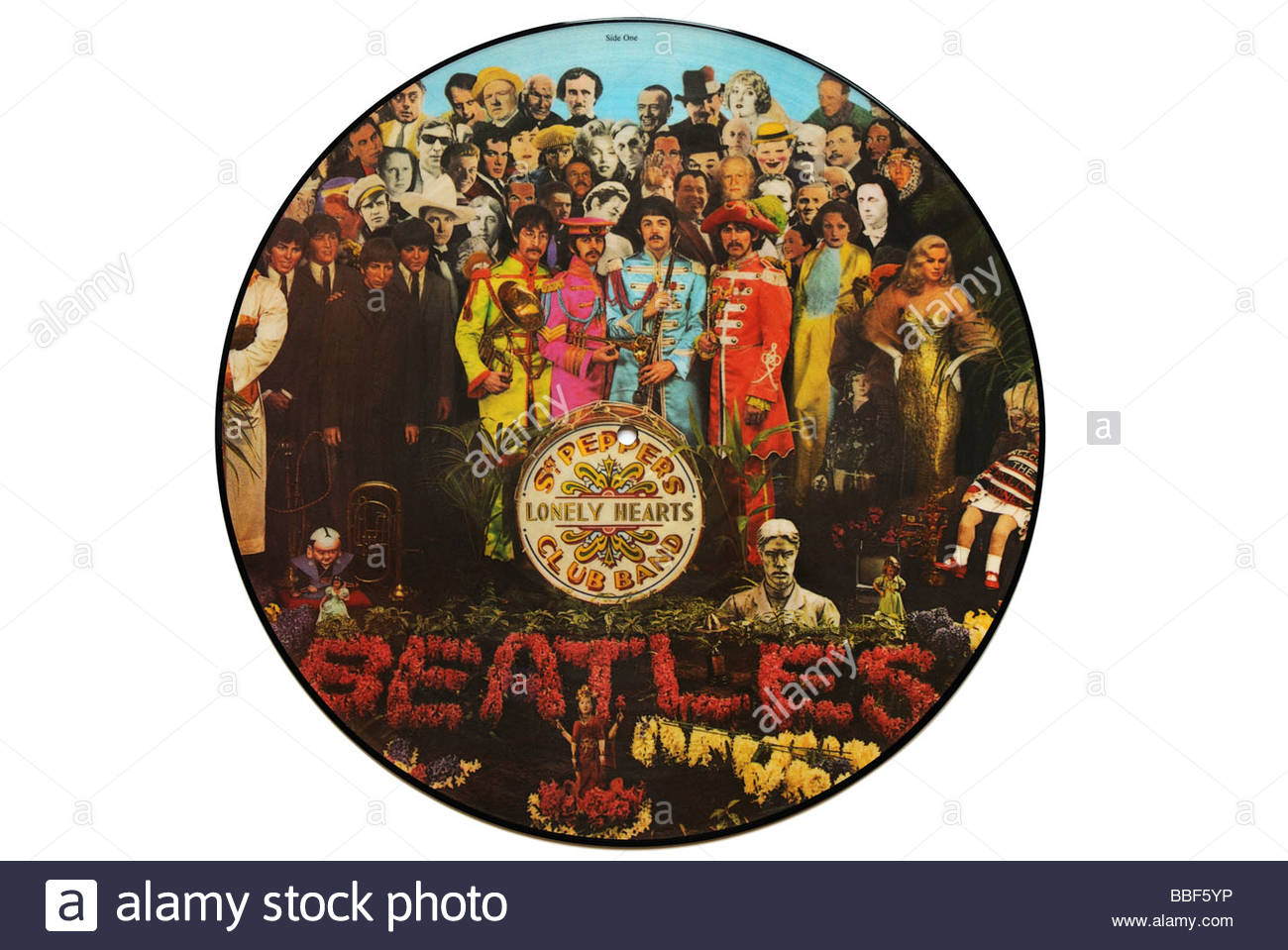 The Beatles Segeant Peppers picture disc album - Stock Image