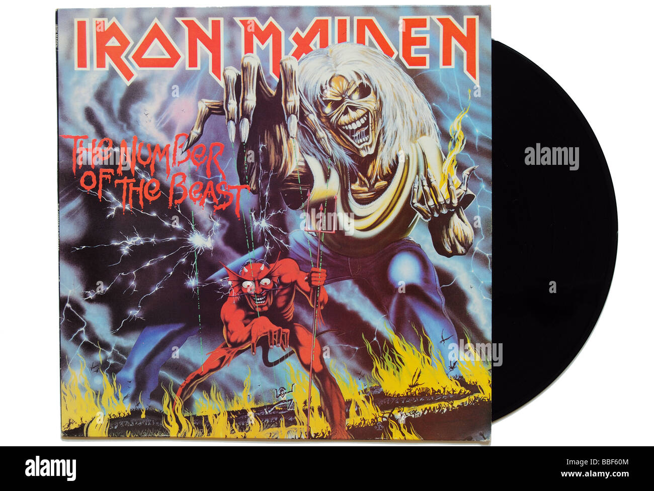Iron Maiden The Number of the Beast album - Stock Image