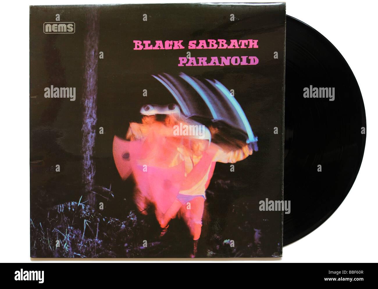 Black Sabbath Paranoid album - Stock Image