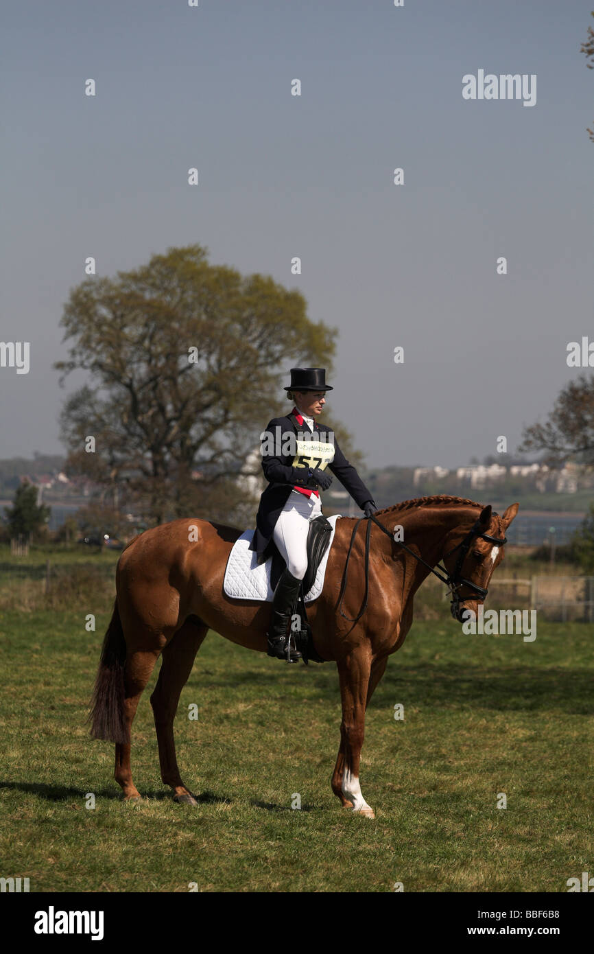 Zara Phillips at Powderham Castle horse eventing competition 2009 day 2 - Stock Image