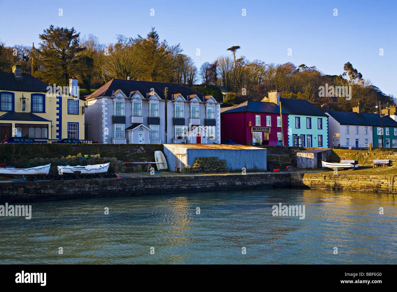 Courtmacsherry harbour town West Cork Ireland. - Stock Image