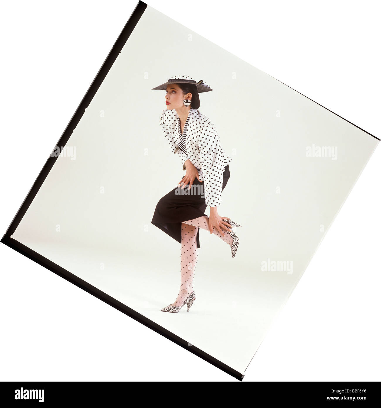clip image retro fashion based on student research fashion and design project - Stock Image