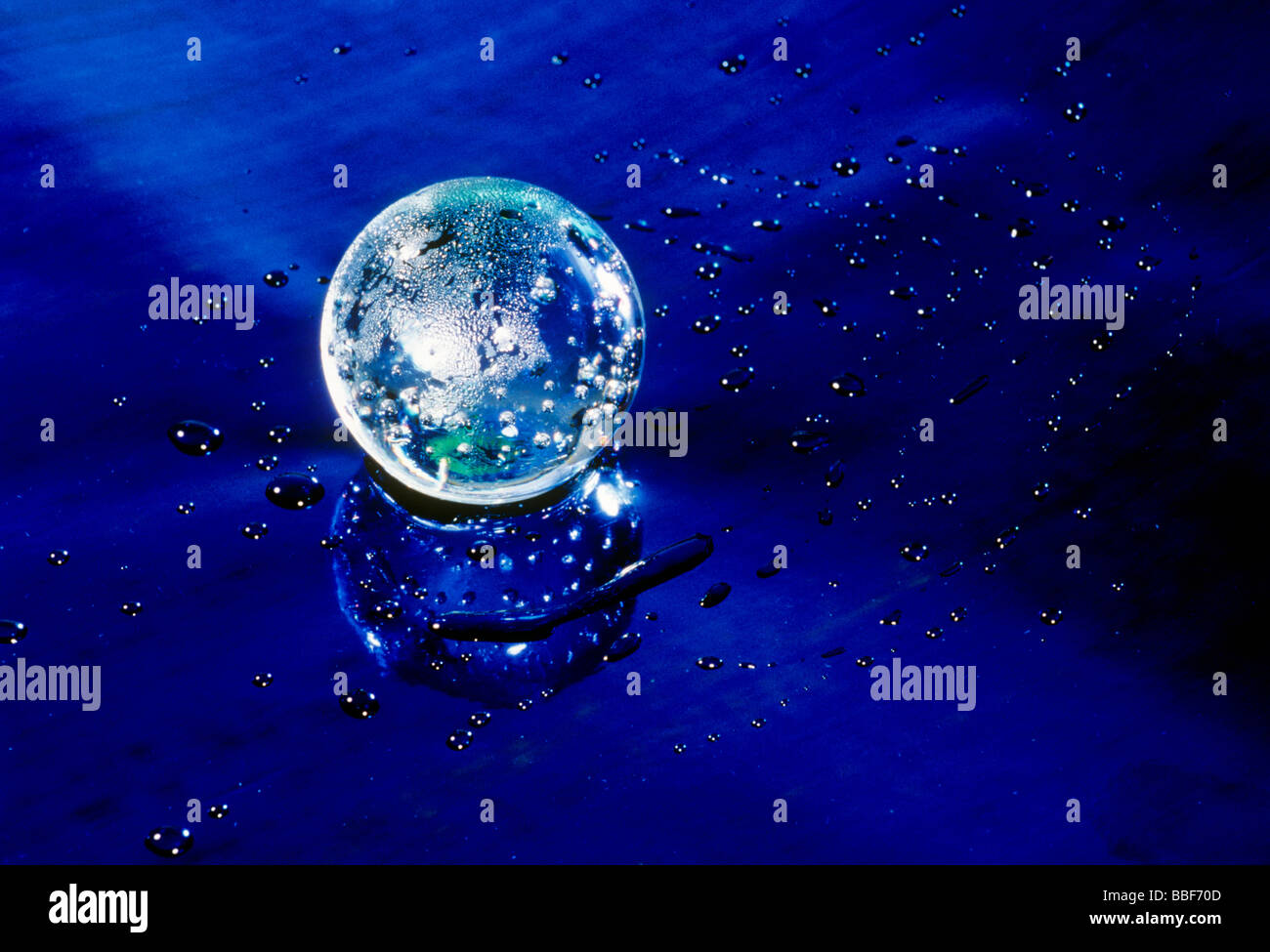 fortune telling crystal ball - Stock Image