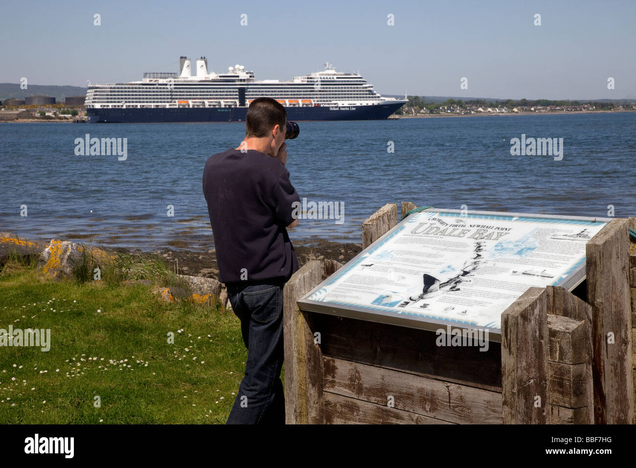 Eurodam cruise liner moored at Invergordon, Cromarty Firth, Scotland, UK - Stock Image