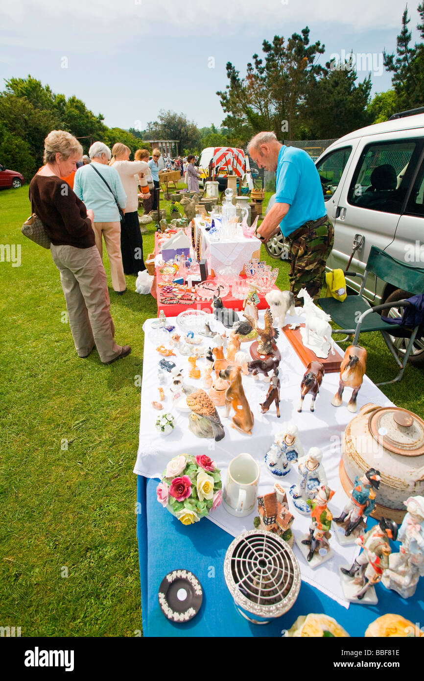 Antique and collectors fair, near Yarmouth, Isle of Wight, Hampshire, England - Stock Image