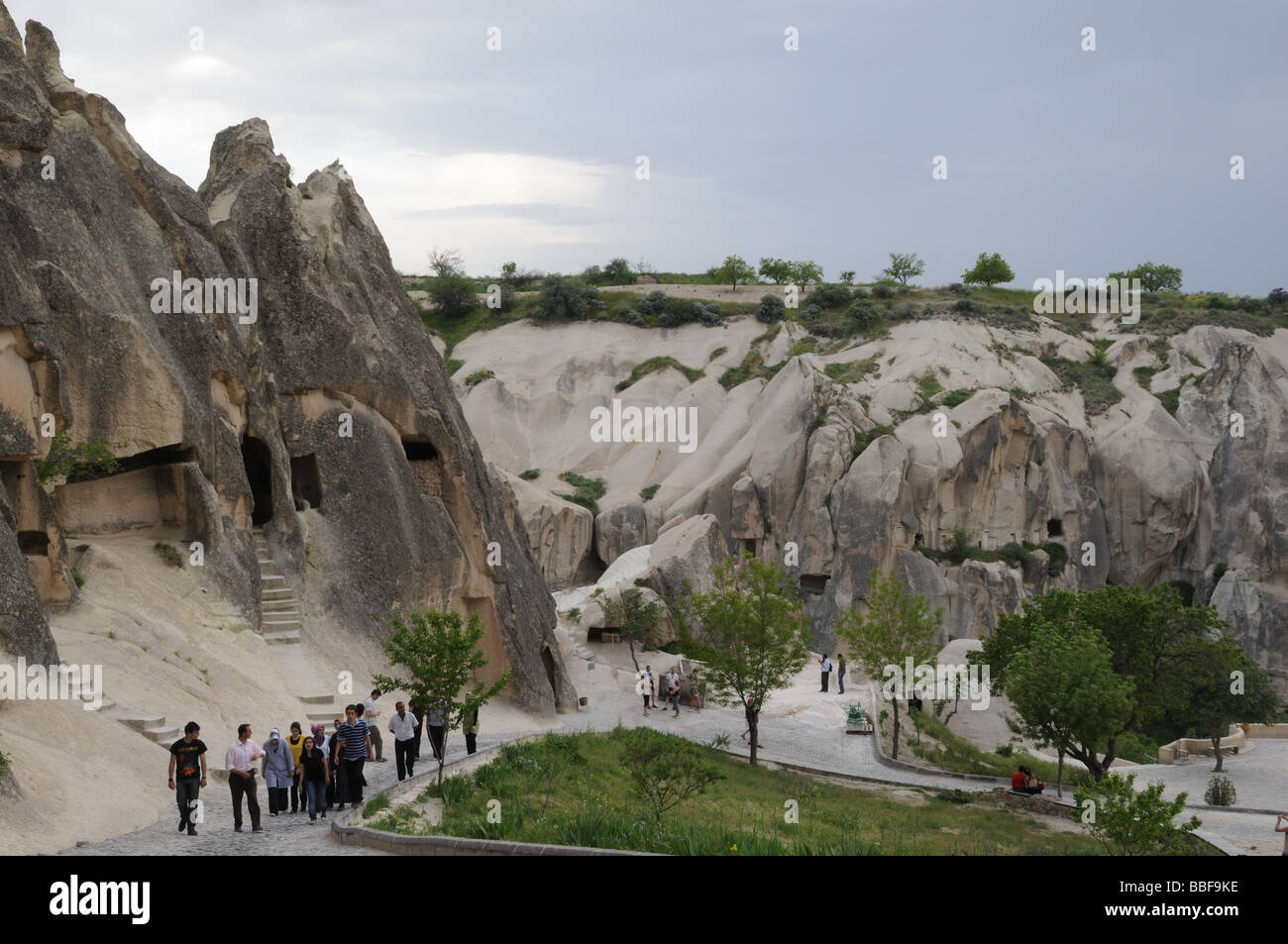 The Goreme Open Air Museum in Cappadocia preserves numerous churches and dwellings created between A.D. 900 and - Stock Image