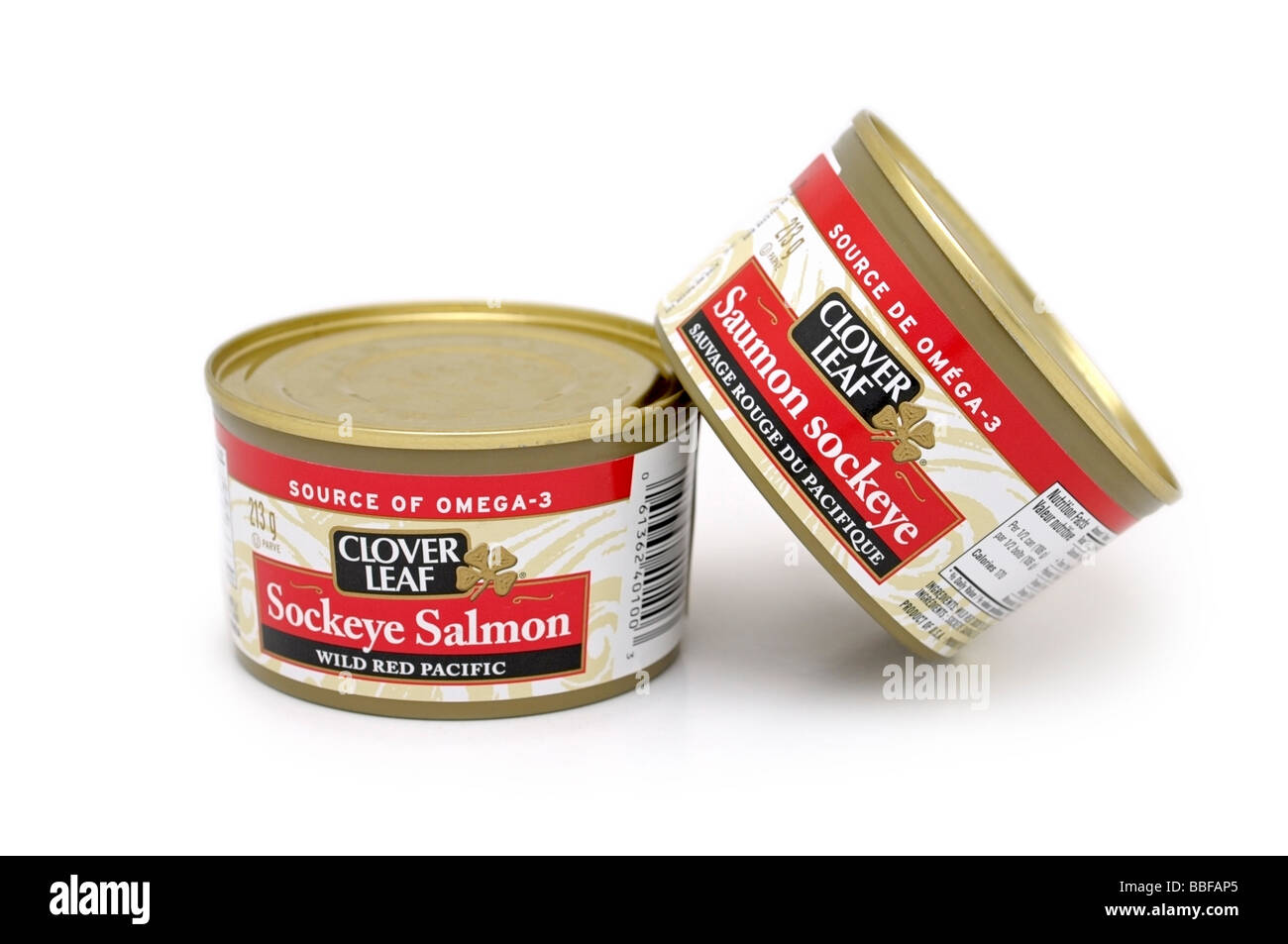 Tins/Tinned Sockeye Salmon - Stock Image