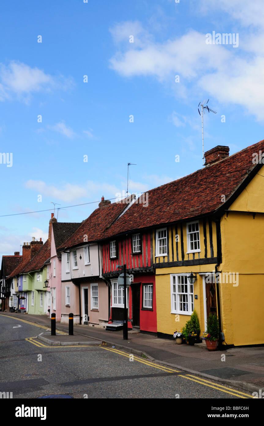 Houses in Castle Street Saffron Walden Essex England Uk - Stock Image