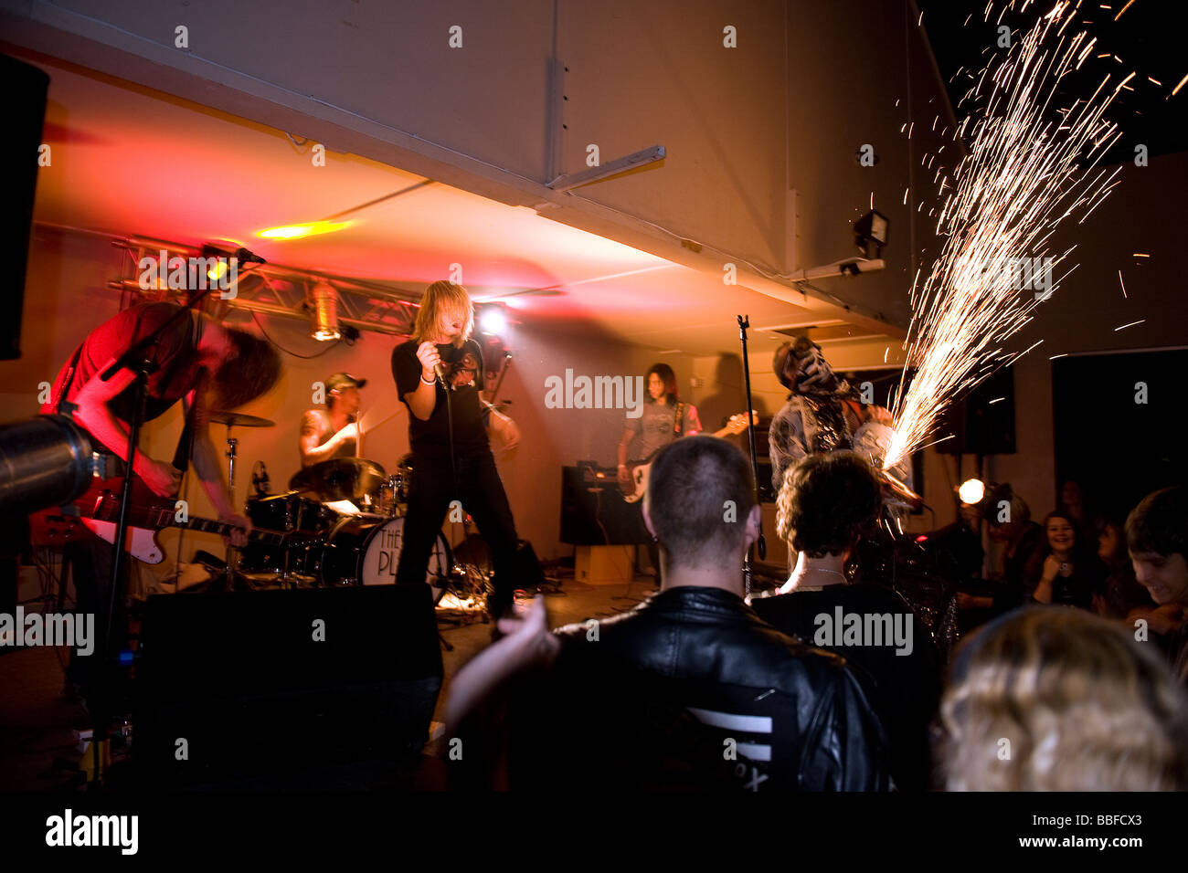 A rock band performing at Wynberg Sports Club Cape Town South Africa - Stock Image