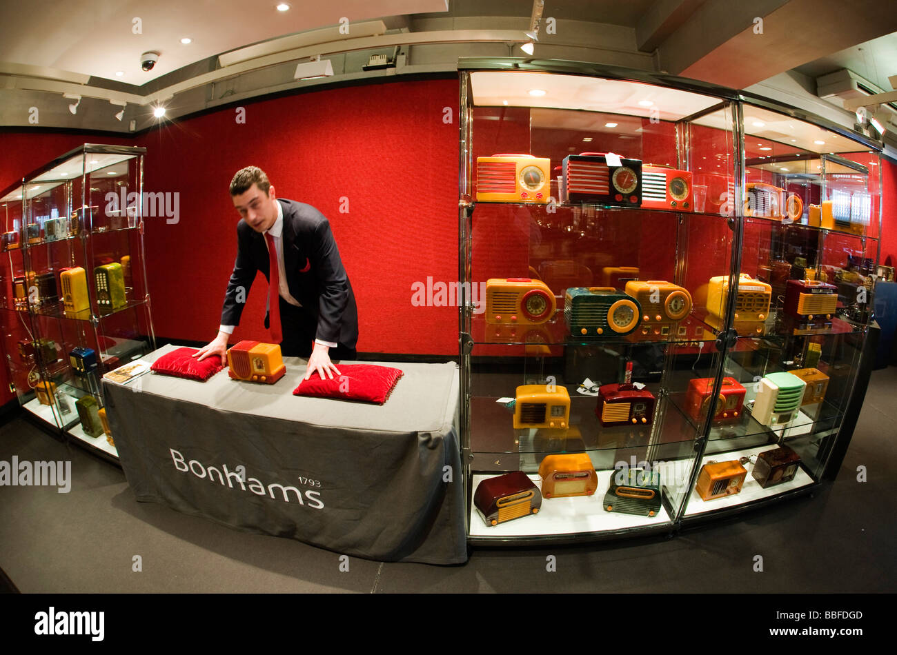Catalin and Radios auction at Bonham's, London - Stock Image