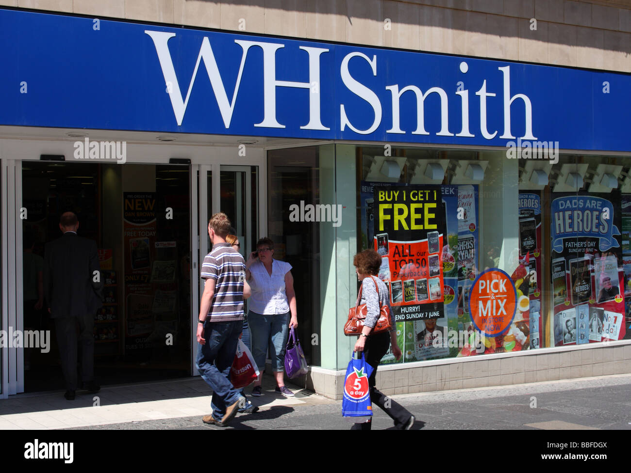 W H Smith retail outlet in a U.K. city. - Stock Image
