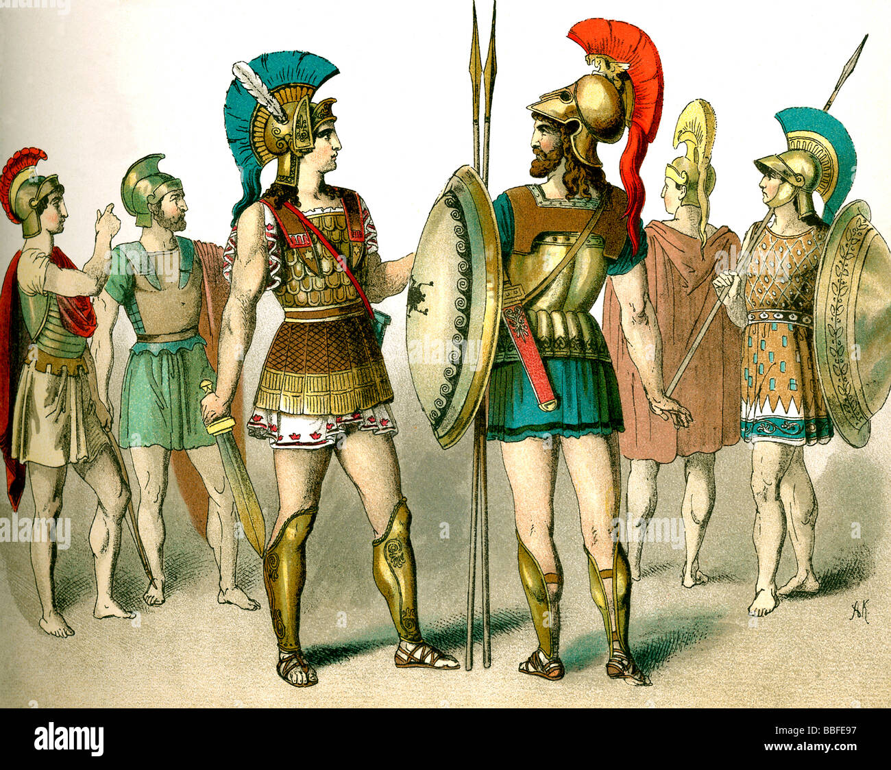 Ancient Greek Warriors - Stock Image