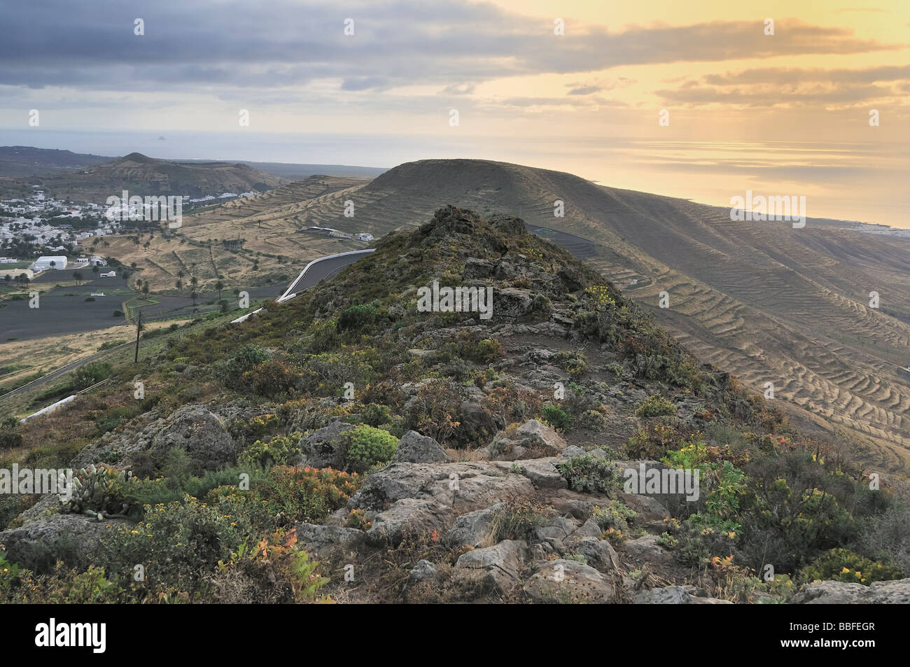 view of Lanzarote Island - Stock Image