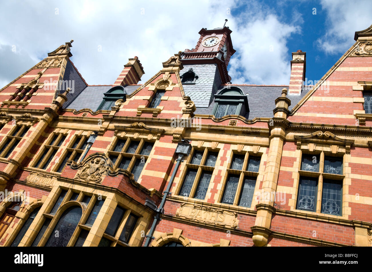 The exterior of Victoria Baths in Manchester, England, UK, following extensive restoration work - Stock Image
