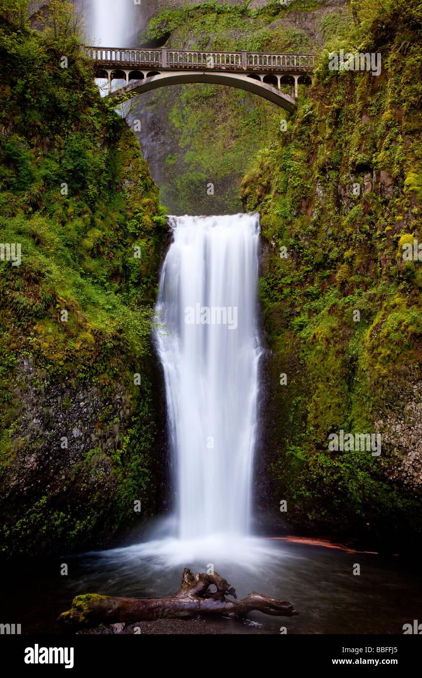Multnomah Falls Oregon USA - Stock Image