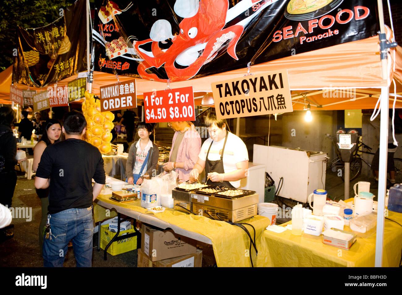 Chinese Food Stand Night
