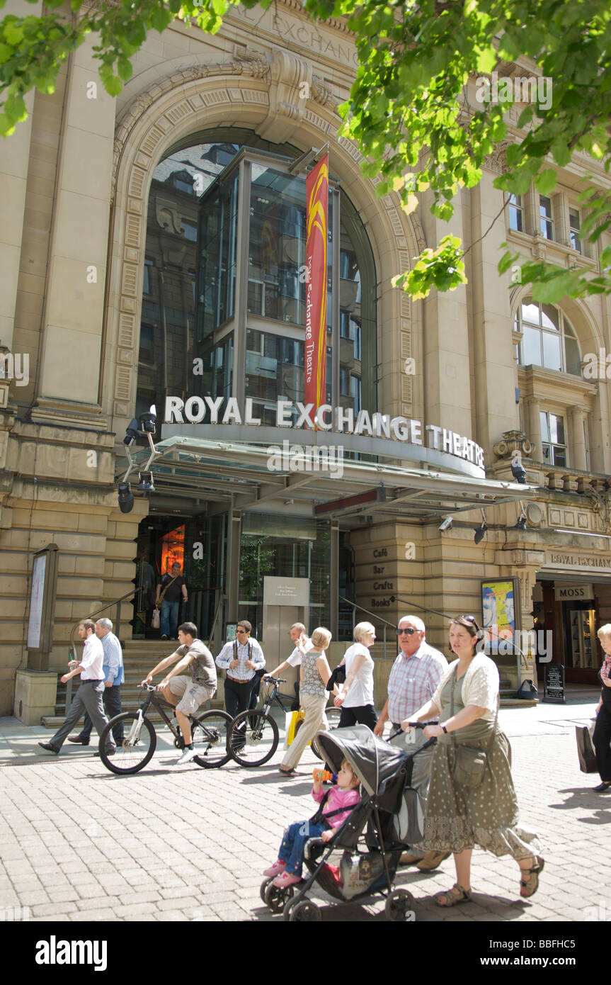 Exterior of the Royal Exchange Theatre on St Anns Square,Manchester Stock Photo