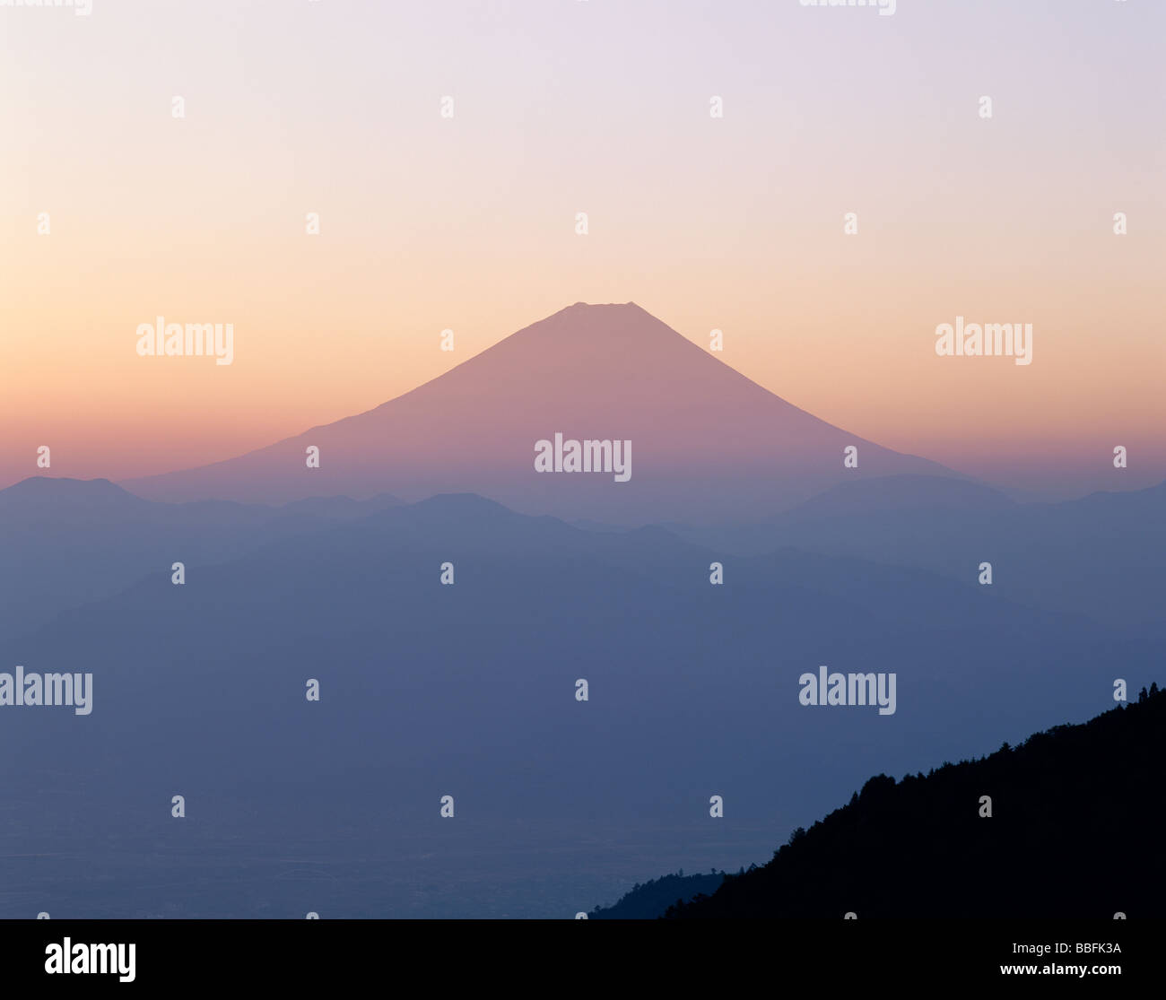 Mt.Fuji And Morning Glow - Stock Image
