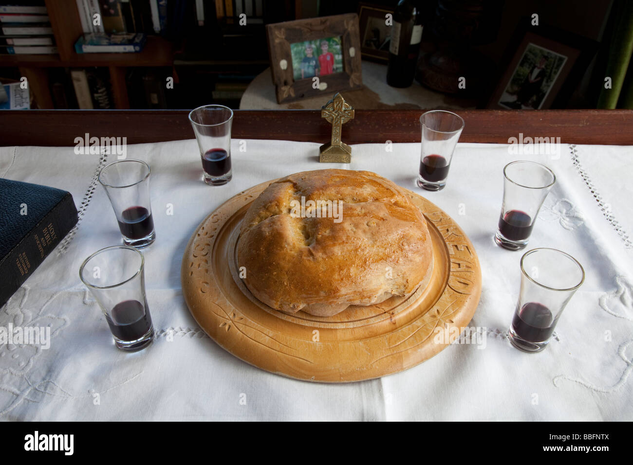 communion table stock photos & communion table stock images - alamy