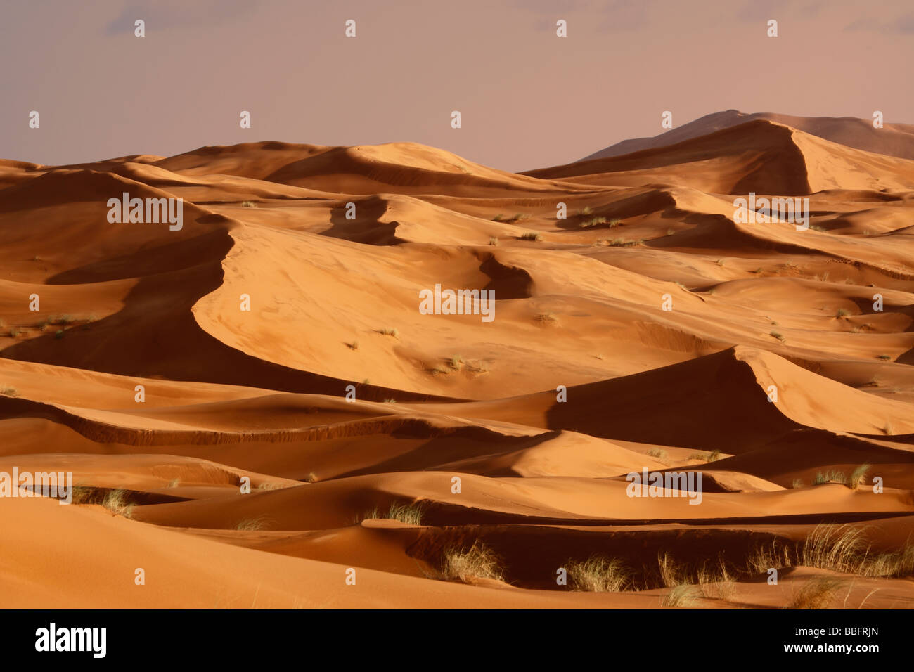 Africa, North Africa, Morocco, Sahara Desert, Merzouga, Erg Chebbi - Stock Image