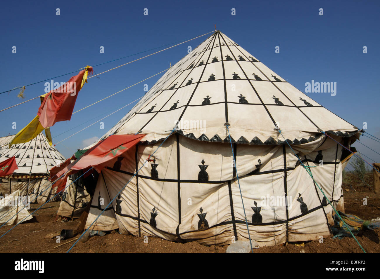 africa north africa morocco meknes decorated berber tent stock