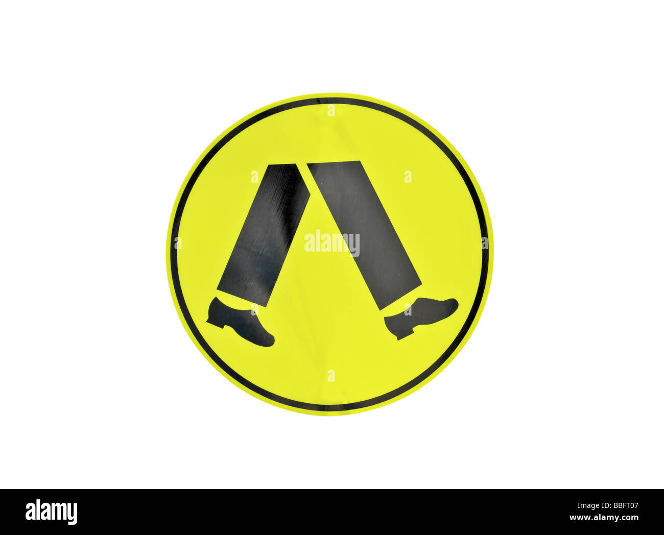 Street or road sign detailing a pedestrian crossing - Stock Image