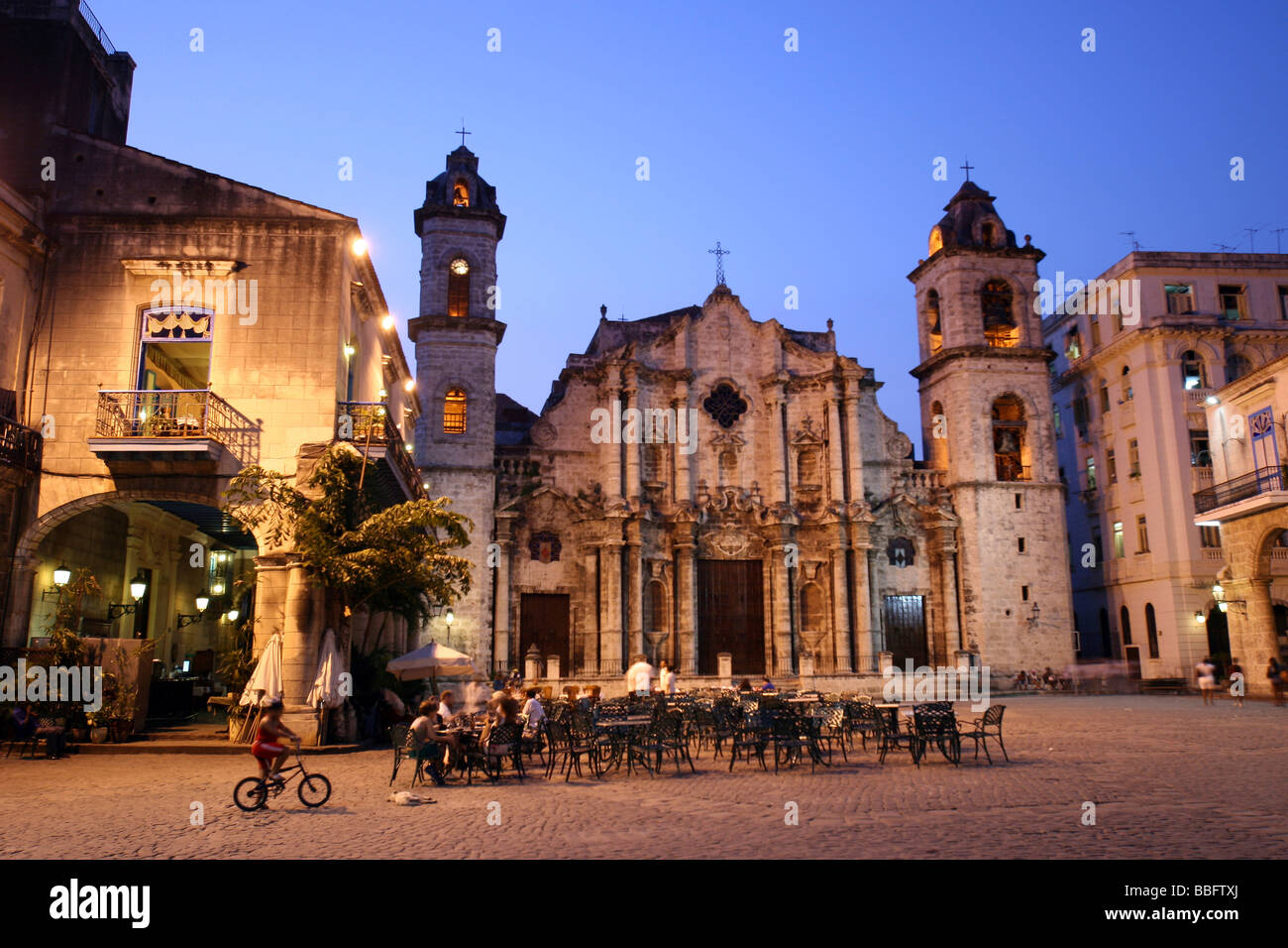 Cathedral of Havana, Cuba, Caribbean, Greater Antilles - Stock Image