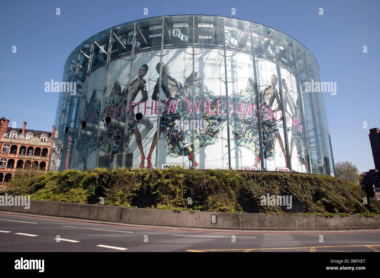 The British Film Institure Imax Cinema in Waterloo Bridge Road - Stock Image