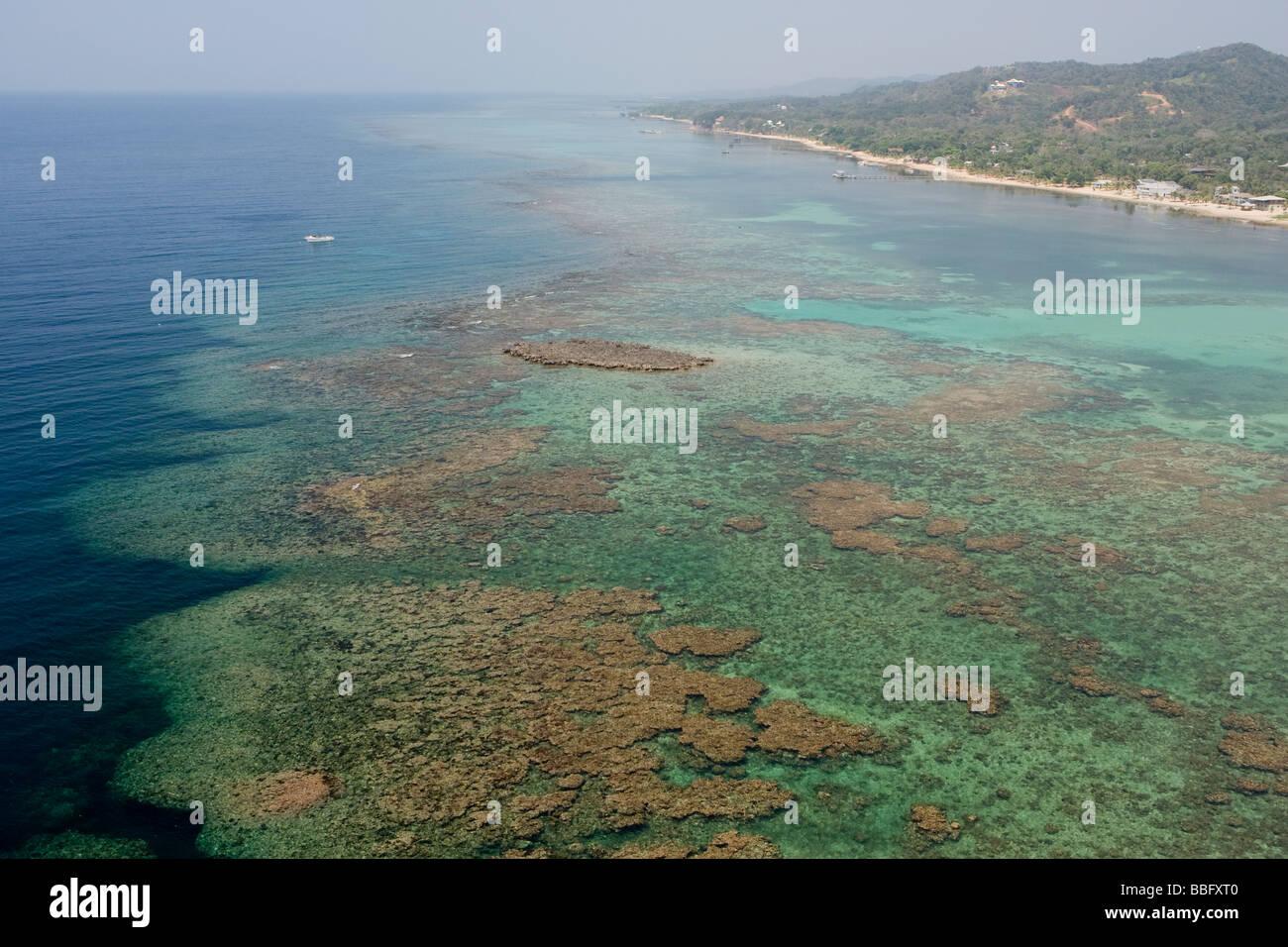 Aerial View Of Reef Roatan