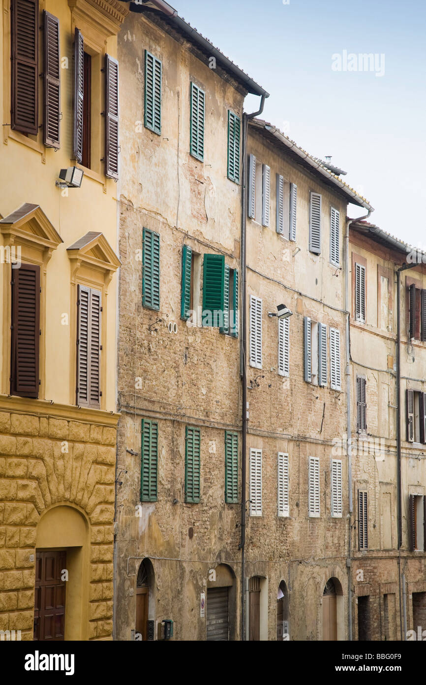 A street in siena - Stock Image